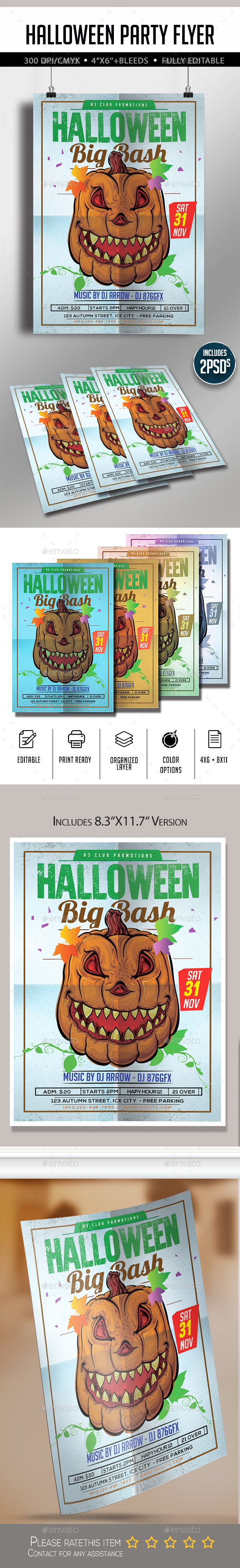 Halloween Flyer A4 - Flyers Print Templates