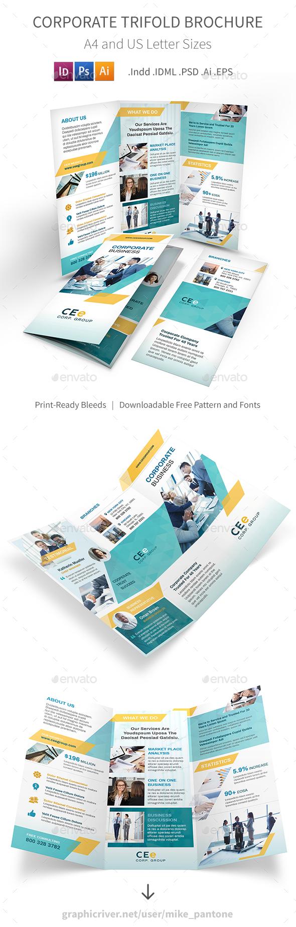Corporate Business Trifold Brochure 5 - Corporate Brochures