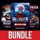 Halloween Party Flyer Bundle Volume 1 - GraphicRiver Item for Sale