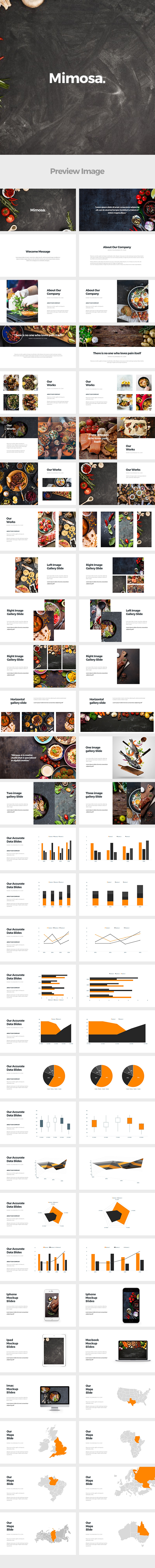 GraphicRiver Mimosa Google Slides Template 20797507