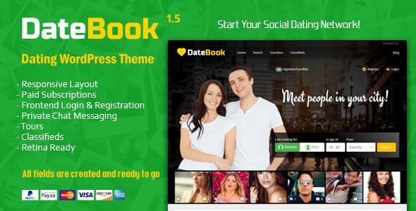 Image of DateBook - Dating WordPress Theme