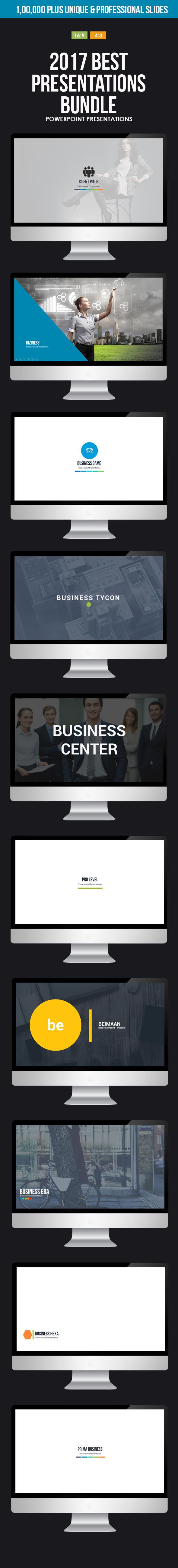 2017 Best Powerpoint Presentations Bundle - Business PowerPoint Templates