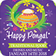 Happy Pongal Festival Flyer