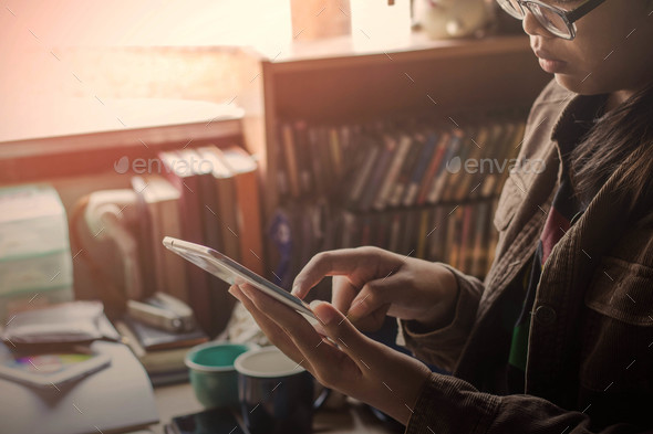 women are using tablets - Stock Photo - Images