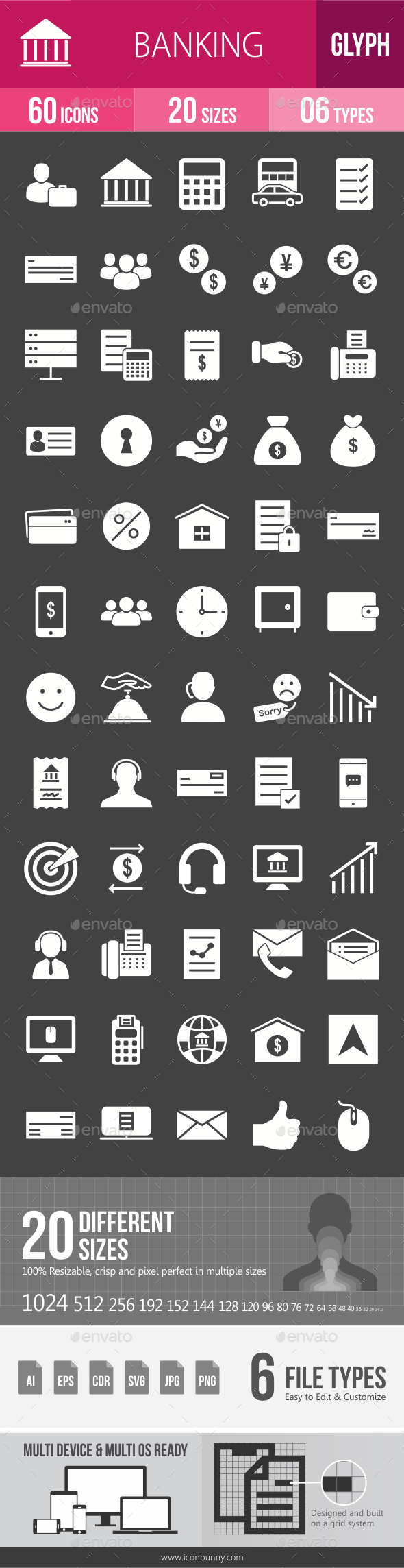 GraphicRiver Banking Glyph Inverted Icons 20797896