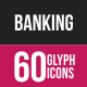 Banking Glyph Inverted Icons