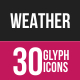Weather Glyph Inveretd Icons
