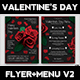 Valentines Day Flyer + Menu Bundle V2 - GraphicRiver Item for Sale