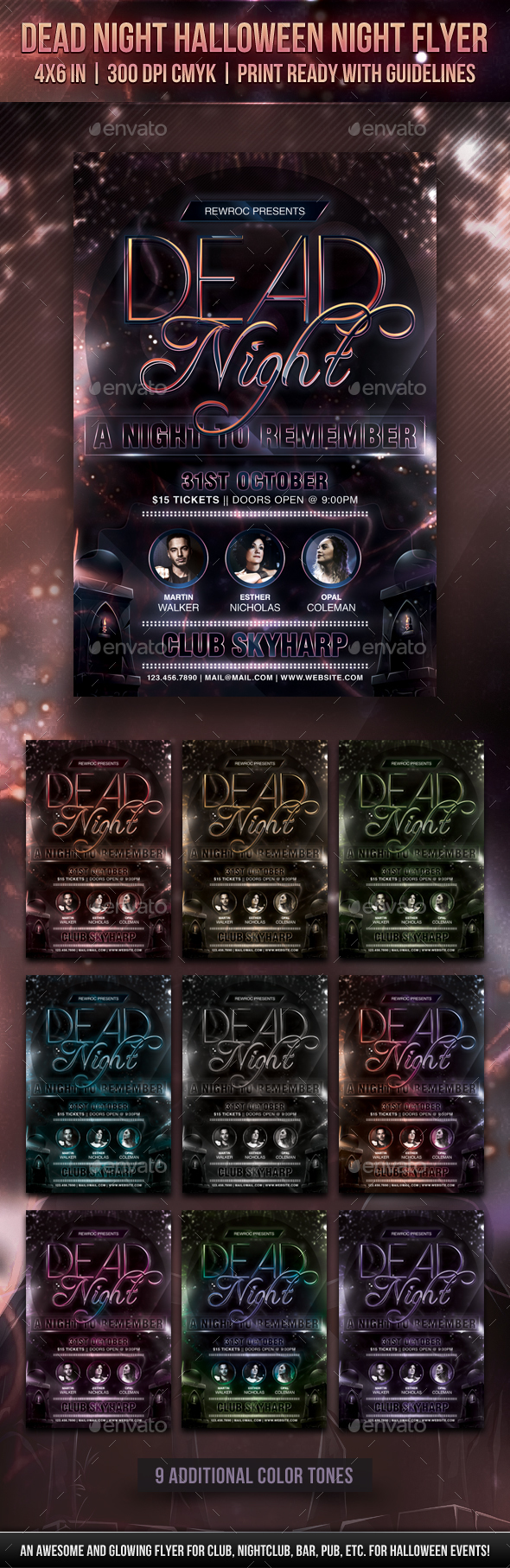 Dead Night Halloween Night Flyer - Holidays Events
