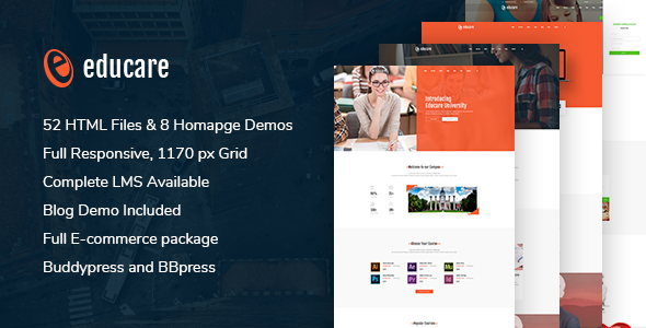 Image of E-LMS - Learning Management System | Material HTML5 Template