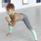 Woman Bending in Dance Class