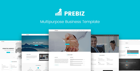 Prebiz - Multipurpose Corporate Business / Portfolio PSD Template - Corporate PSD Templates