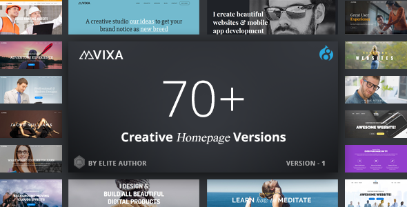 Vixa - Responsive Multi-Purpose Drupal 8 Theme