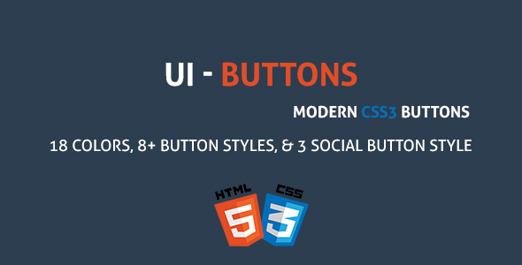 UIButton - A Modern CSS3 Buttons Collection - CodeCanyon Item for Sale
