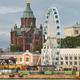 Helsinki skyline with harbor, wheel and Uspenki cathedral. Travel Finland - PhotoDune Item for Sale