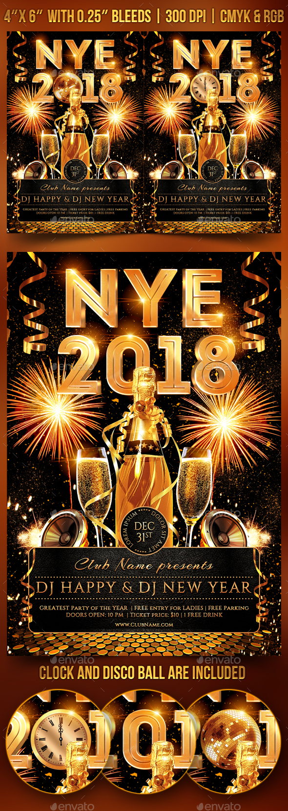 New Year's Eve Party Flyer - Clubs & Parties Events