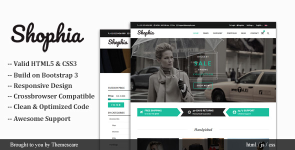 Image of Shophia - Shop HTML5 Responsive Template