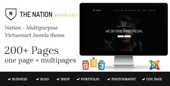 Nation - Multipurpose Virtuemart Joomla Template - VirtueMart Joomla