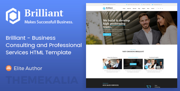 Brilliant - Business Consulting and Professional Services HTML Template - Business Corporate