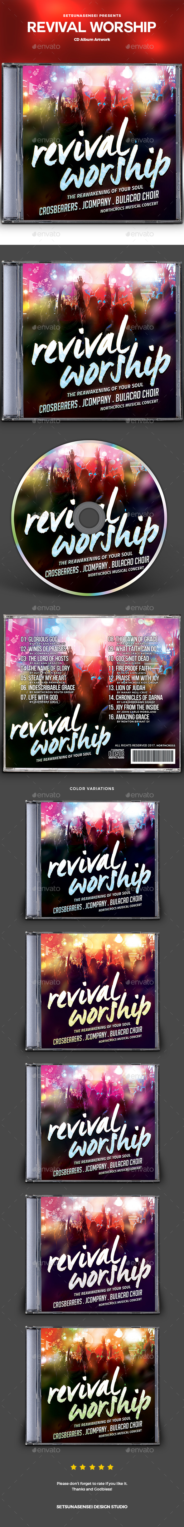 GraphicRiver Revival Worship CD Album Artwork 20799187