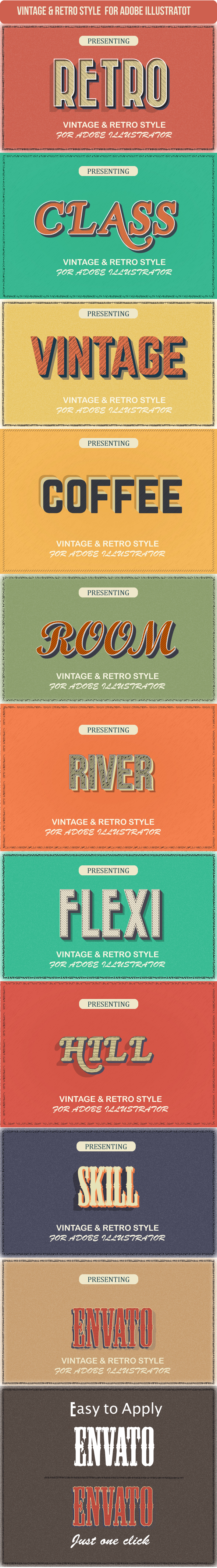 GraphicRiver Vintage Graphic Styles for Illustrator 20799354