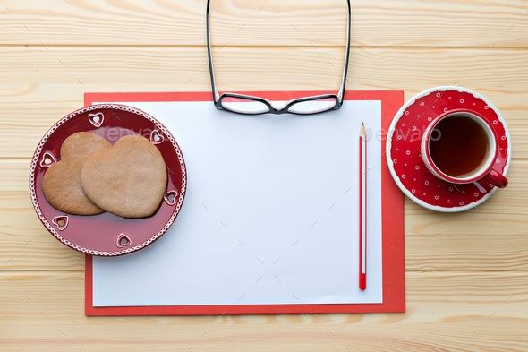 Sheet of paper on the desk - Stock Photo - Images