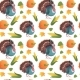 Autumn Seamless Pattern Happy Thanksgiving Day