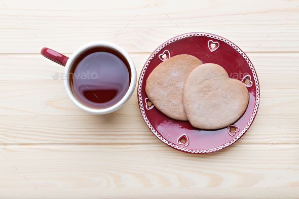 Tea and cookies - Stock Photo - Images