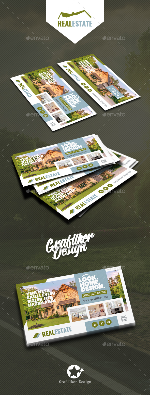 GraphicRiver Real Estate Business Card Templates 20799964