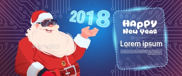 GraphicRiver Santa Claus Wear Digital Glasses Virtual Reality 20799994