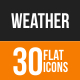 Weather Flat Round Icons