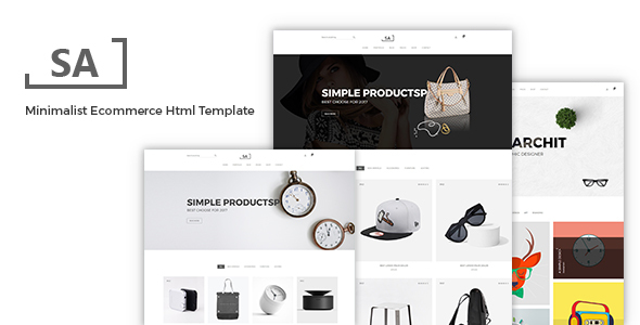 Sa - Minimalist eCommerce  Template - Shopping Retail