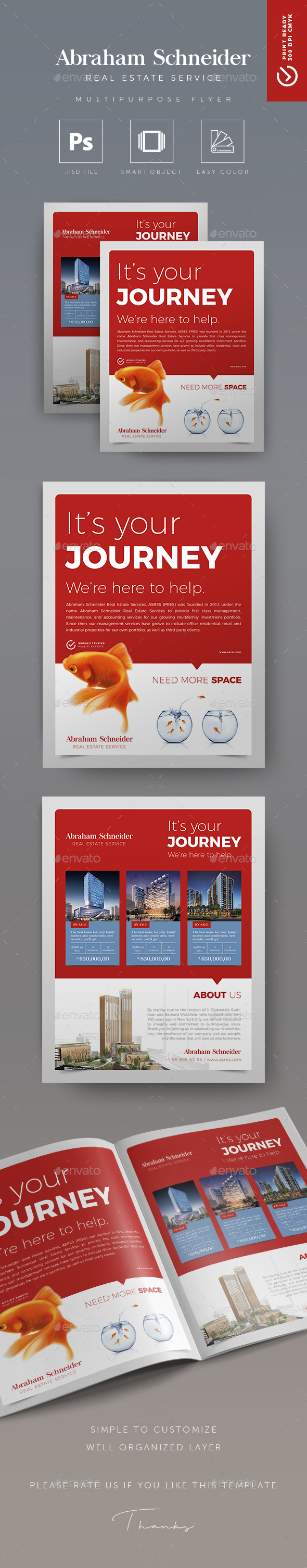 Journey - Creative Real Estate Flyer - Corporate Flyers