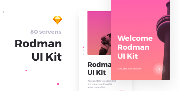 ThemeForest Rodman Mobile UI Kit 20800535