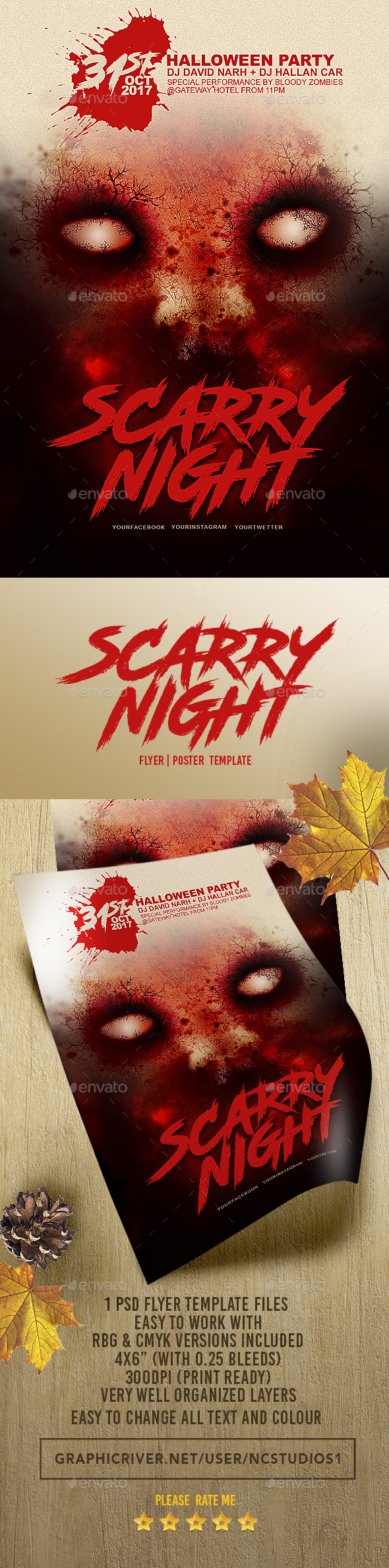 Halloween Flyer Template 3 - Flyers Print Templates