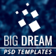 Bigdream One Page Business Psd Template - ThemeForest Item for Sale