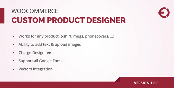 CodeCanyon Woocommerce Custom Product Designer for T-Shirt Cup Caps Cards 20800809