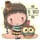 Cartoon Girl and Owl