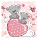 Two Bears Sitting on Heart