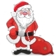 Cartoon Santa Claus on a White Background
