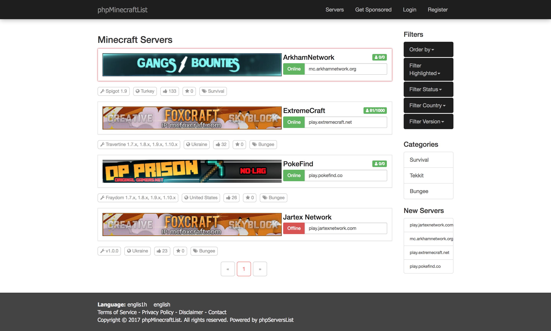 Premium Minecraft Servers List