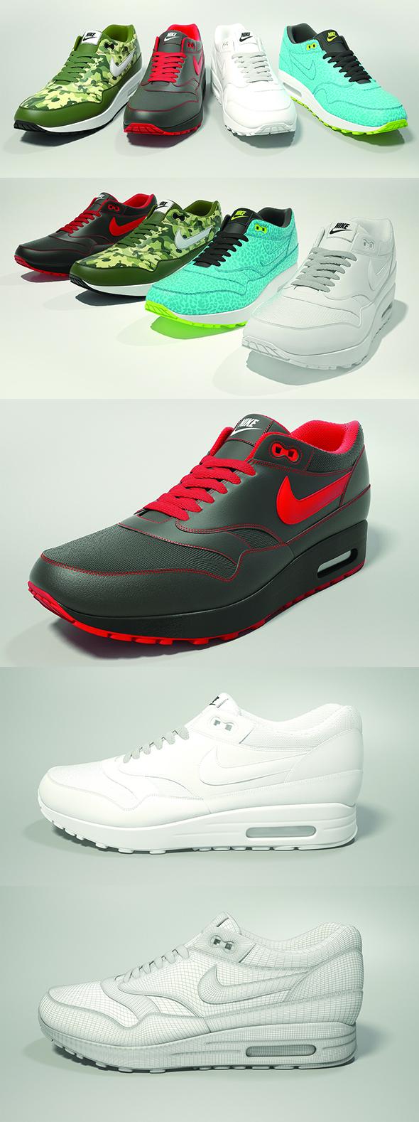 3DOcean Nike Air Max 1 3D model 20801298