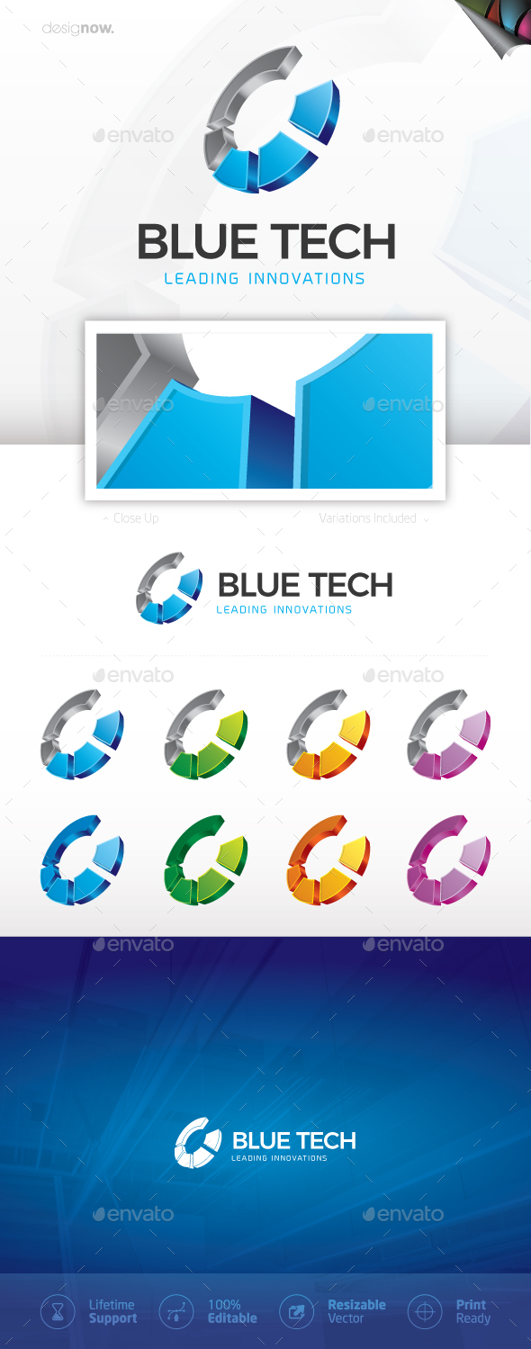 GraphicRiver Blue Tech Logo 20801339