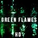 Abstract Halloween Green Flames