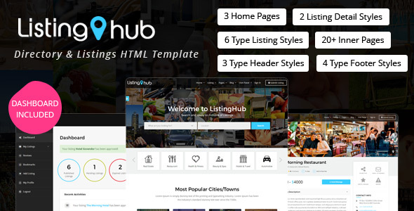 ListingHub - Directory & Listings HTML Template