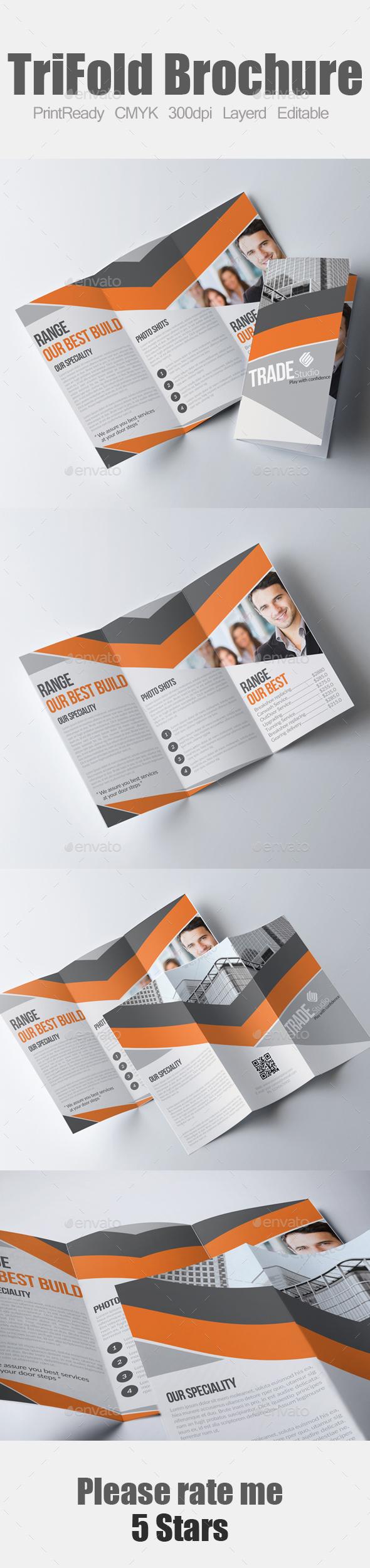 Corporate Tri Fold Business Brochure - Brochures Print Templates