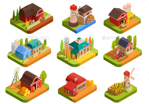 GraphicRiver Farm Isometric Set 20801657