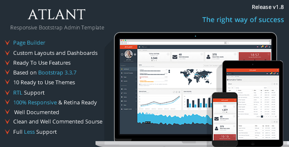 Atlant - Bootstrap Admin Template