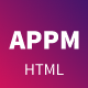 Appm -  App Landing HTML Template - ThemeForest Item for Sale