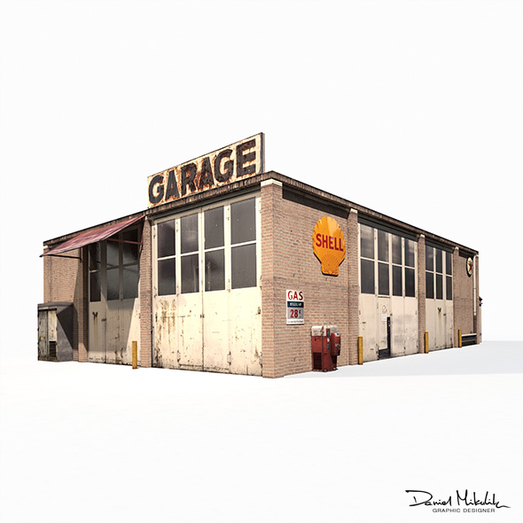 3DOcean Garage Building 188 Low Poly 20802288